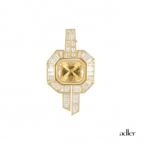 Adler Citrine and Diamond Pendant